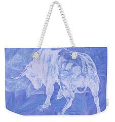 Purple Bull Negative Weekender Tote Bag