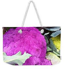 Purple Cauliflower Weekender Tote Bag by Susan Garren