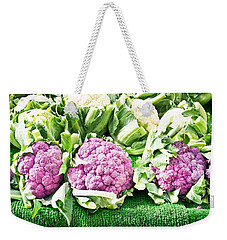 Purple Cauliflower Weekender Tote Bag