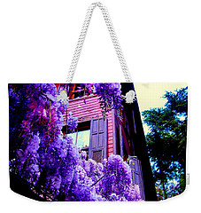 Weekender Tote Bag featuring the photograph Purple Cheer by Zafer Gurel