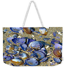 Purple Clam Shells On A Beach Weekender Tote Bag
