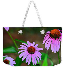 Purple Coneflower - Echinacea Weekender Tote Bag by Kathy Eickenberg