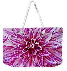 Purple Dahlia Weekender Tote Bag