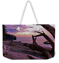 Weekender Tote Bag featuring the photograph Purple Dreams In Bc by Barbara St Jean