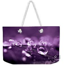 Purple Droplets Weekender Tote Bag