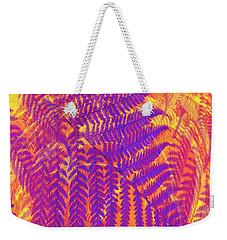 Purple Fern Weekender Tote Bag