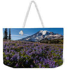 Purple Fields Forever And Ever Weekender Tote Bag by Mike Reid