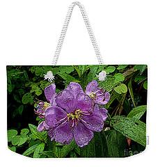 Purple Flower Weekender Tote Bag by Sergey Lukashin