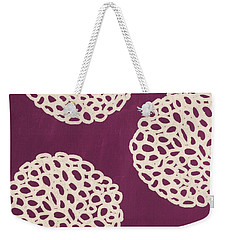 Purple Garden Bloom Weekender Tote Bag by Linda Woods