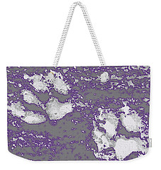 Purple Glow Pawprints Weekender Tote Bag