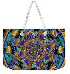 Purple Gold Dream Catcher Mandala Weekender Tote Bag