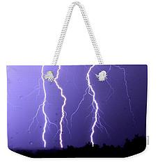 Purple Rain Lightning Weekender Tote Bag