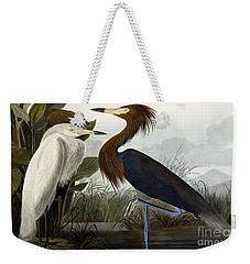 Purple Heron Weekender Tote Bag by John James Audubon