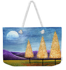 Purple Hills Weekender Tote Bag