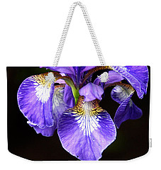 Purple Iris Weekender Tote Bag by Adam Romanowicz