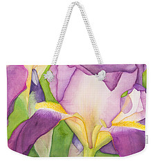 Purple Irises Weekender Tote Bag