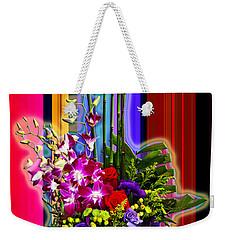 Purple Lady Flowers Weekender Tote Bag