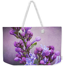 Purple Lilacs Weekender Tote Bag