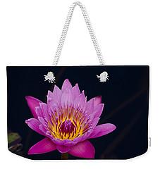 Purple Lotus Flower Weekender Tote Bag