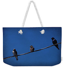 Purple Martin Trio Weekender Tote Bag