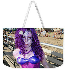 Weekender Tote Bag featuring the photograph Purple Mermaid by Ed Weidman