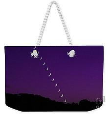 Purple Moon Setting In West Weekender Tote Bag