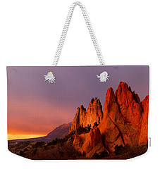 Purple Morning At Garden Of The Gods Weekender Tote Bag