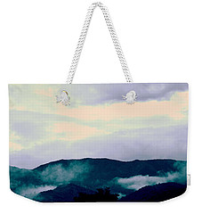 Purple Mountains Majesty Blue Ridge Mountains Weekender Tote Bag by Kathy Barney