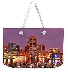 Purple Night In Baltimore Weekender Tote Bag