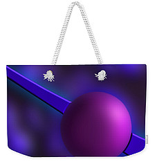 Weekender Tote Bag featuring the photograph Purple Orb by Paul Wear