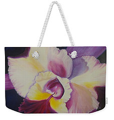 Purple Orchid Weekender Tote Bag