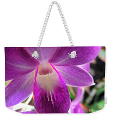 Weekender Tote Bag featuring the photograph Purple Orchid by Kristine Merc
