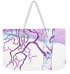 Purple Paper Birch Weekender Tote Bag
