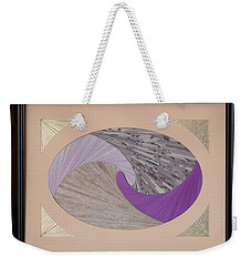 Weekender Tote Bag featuring the mixed media Purple Passion by Ron Davidson