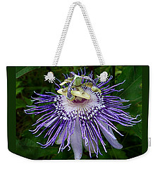 Purple Passionflower Weekender Tote Bag