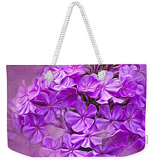 Purple Phlox Weekender Tote Bag