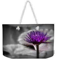 Purple Pond Lily Weekender Tote Bag