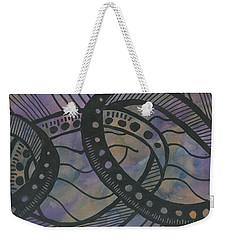 Purple Rings Weekender Tote Bag