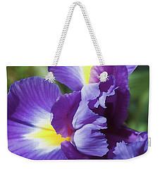 Purple Ruffles Weekender Tote Bag
