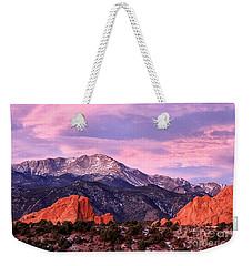 Purple Skies Over Pikes Peak Weekender Tote Bag