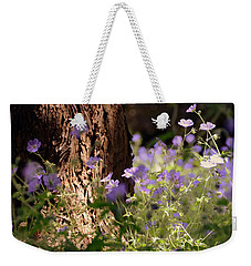 Purple Splash Weekender Tote Bag