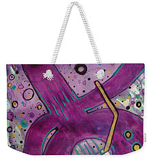 Purple Strings Weekender Tote Bag