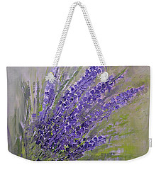Purple Lavender Summer Weekender Tote Bag