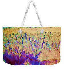 Purple Tan Stone Abstract Weekender Tote Bag