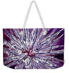 Purple Tentacles In Abstract Flower Shot Weekender Tote Bag