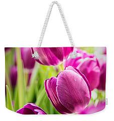 Purple Tulip Garden Weekender Tote Bag