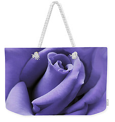 Purple Velvet Rose Flower Weekender Tote Bag