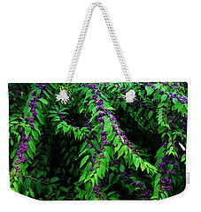 Purple Vibe Weekender Tote Bag