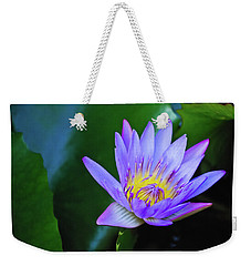 Purple Water Lily Weekender Tote Bag