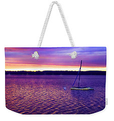 Weekender Tote Bag featuring the photograph Purple Waters  by Cindy Greenstein